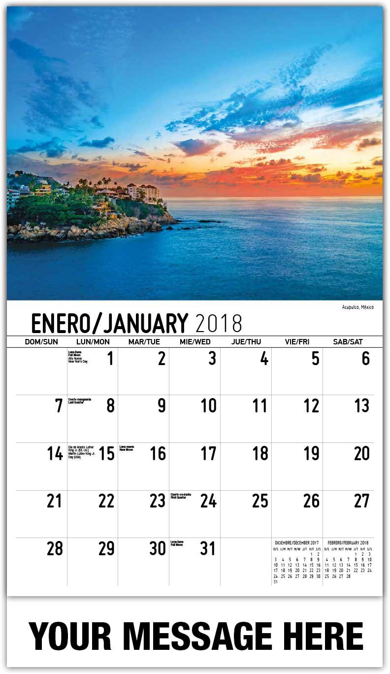 Scenes of Mexico Spanish-English 65¢ Promo Calendars | Escenas de ...