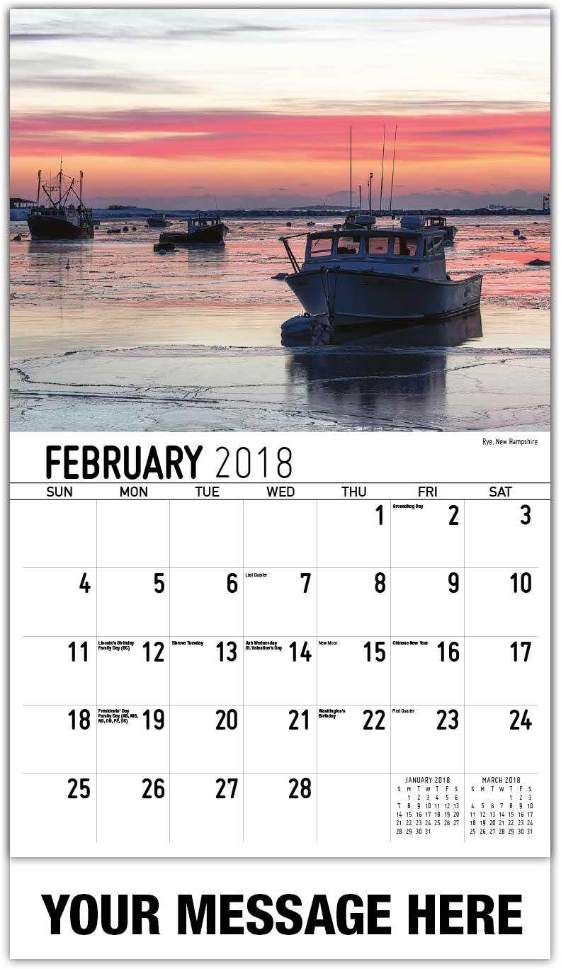 Photo Wall Calendars new england states calendar   65¢ business promotional calendars