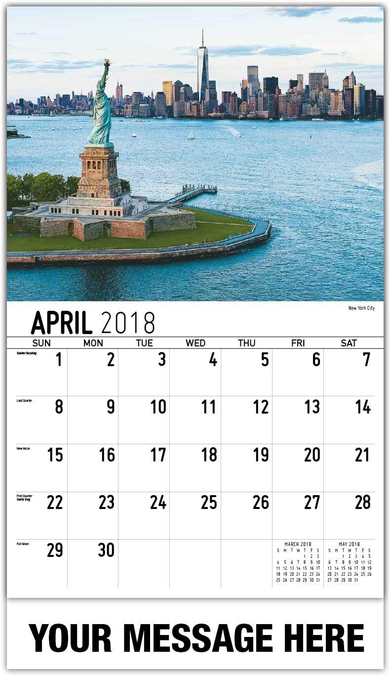 April Calendar New York City : Scenes of new york state scenic calendar