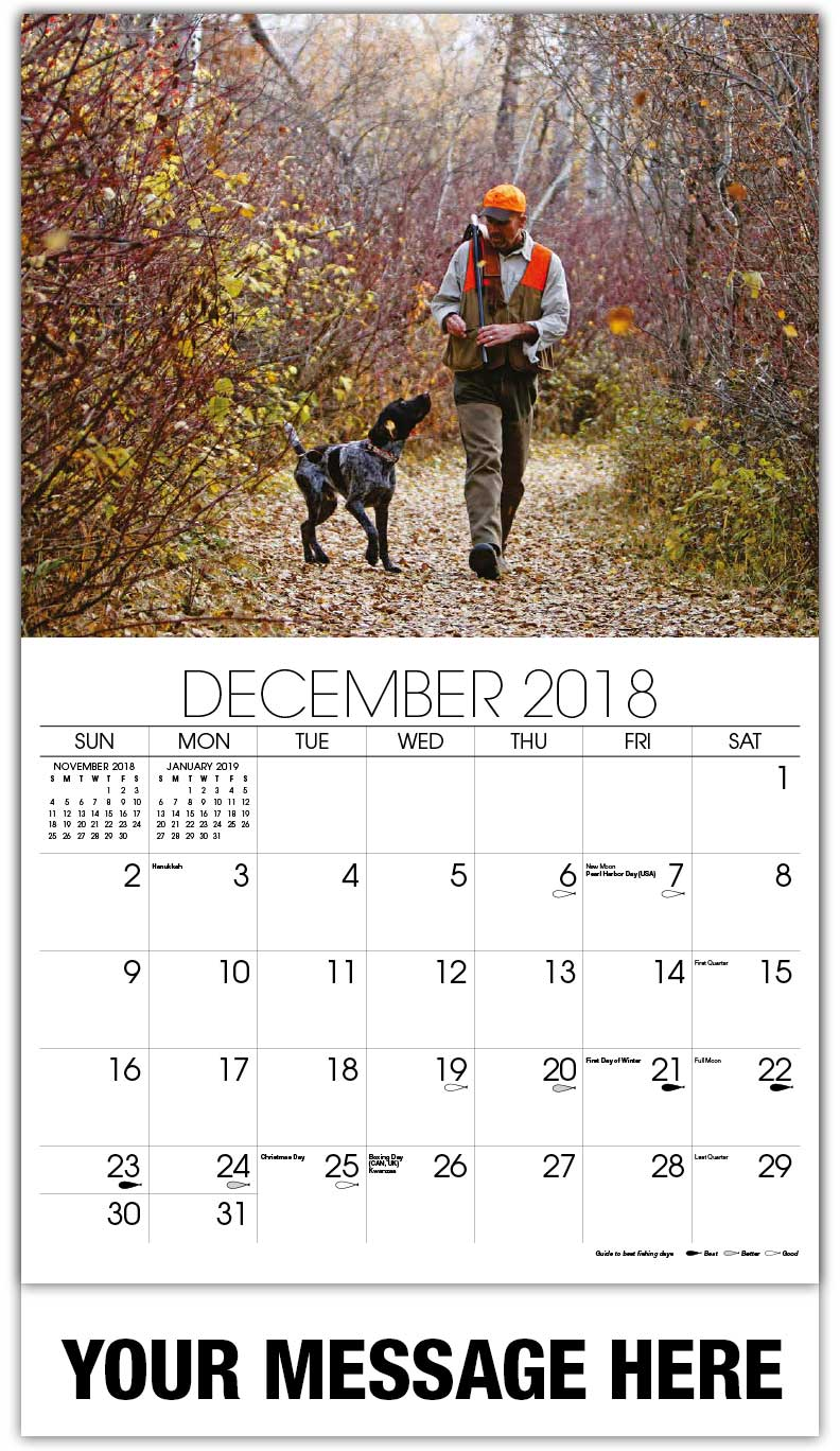 Promo Calendars 2018 - Hunter With Dog - December_2018