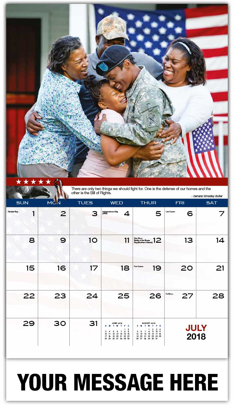 Promotional Calendars 2018 - Military Family - July