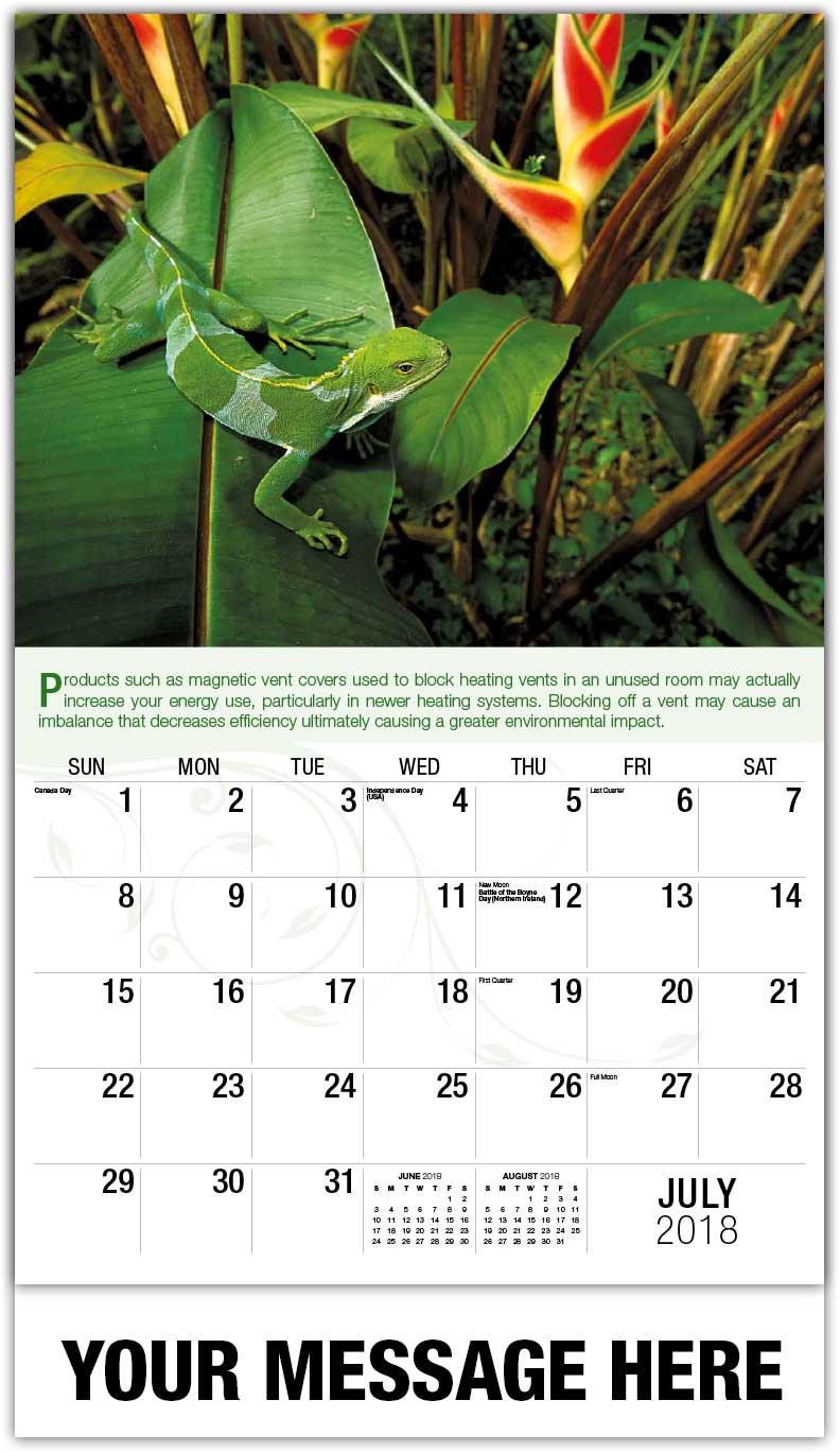 Go Green Environmental Awareness Calendar 65 162 Business