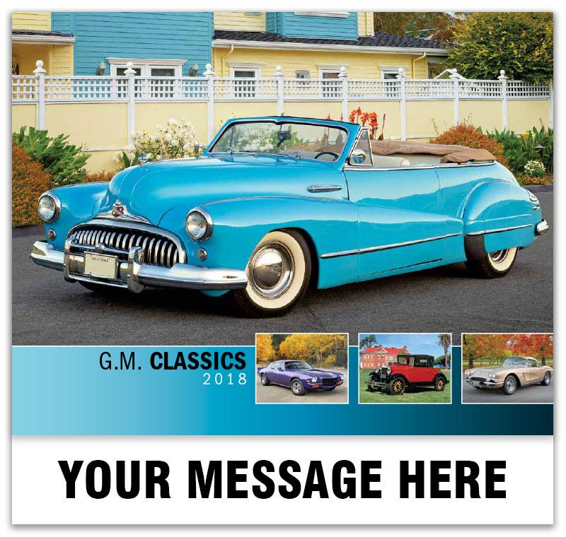 Gm Classic Cars Calendar Vintage Car Promotional Wall Calendar