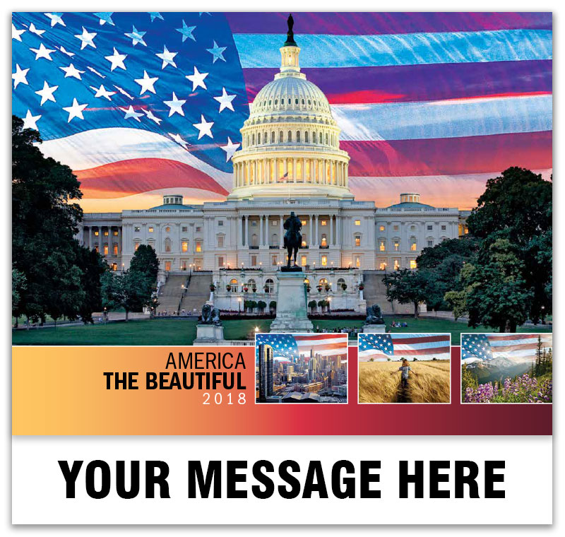2018 Promotional Wall Calendars - Imprinted with your Business, Organization or Event Name, Logo and Message - Cover