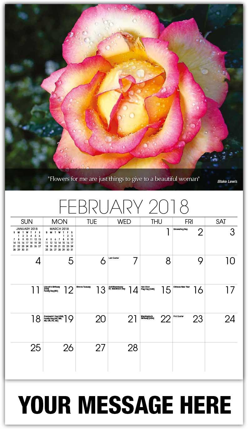 Secret Garden: Flowers And Gardens Promo Calendar