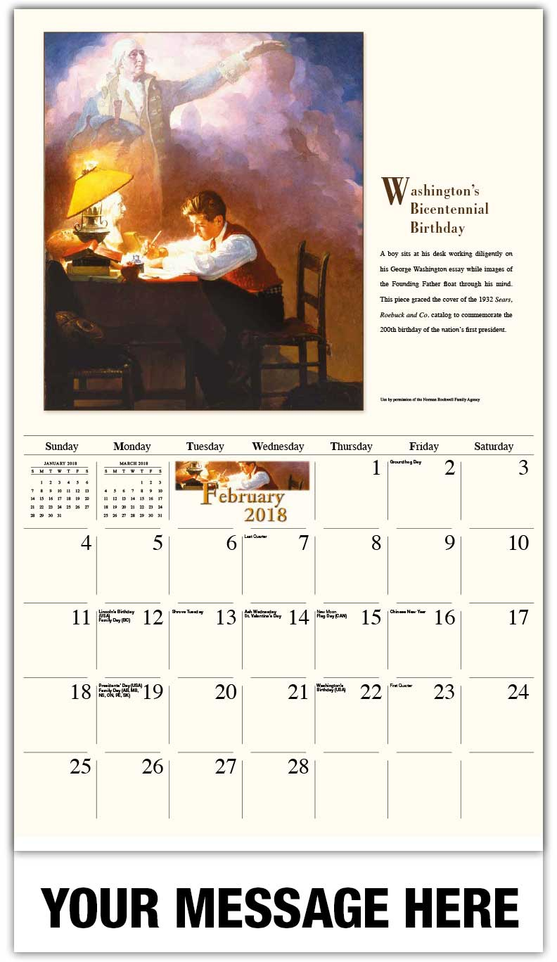 Art Calendar Business Magazine : Norman rockwell art calendar ¢ promotional wall calendars