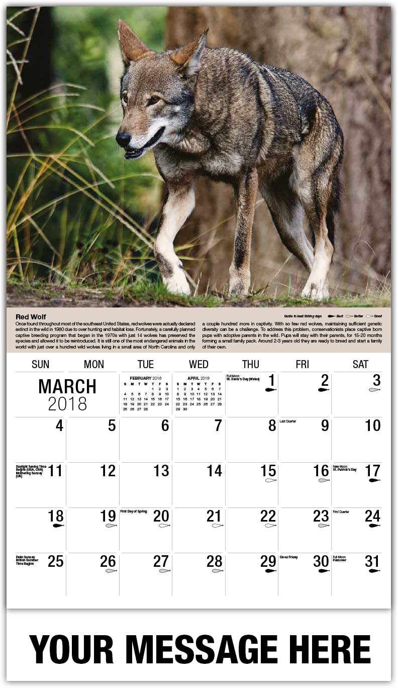 north american wildlife calendar 65¢ business promotional calendars