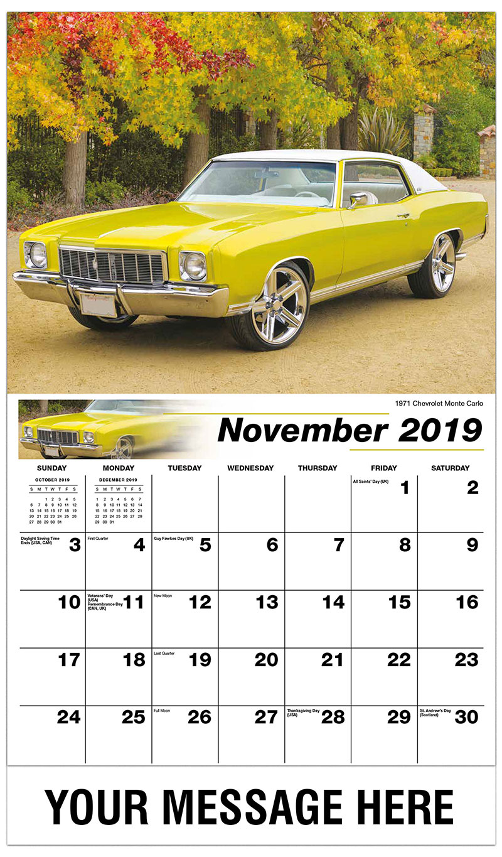 gm classic cars calendar 65 promotional calendar vintage car calendar. Black Bedroom Furniture Sets. Home Design Ideas