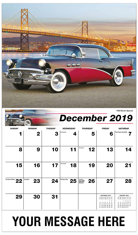 2019 Advertising Calendar - 1956 Buick Special - December_2019