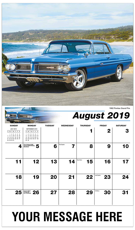 2019 Business Advertising Calendar - 1925 Buick 29-57 - August