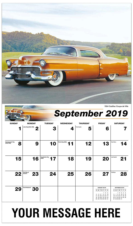 2019 Business Advertising Calendar - 1962 Pontiac Grand Prix - September