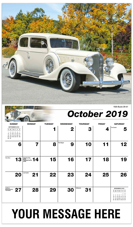 2019 Business Advertising Calendar - 1954 Cadillac Coupe De Ville - October