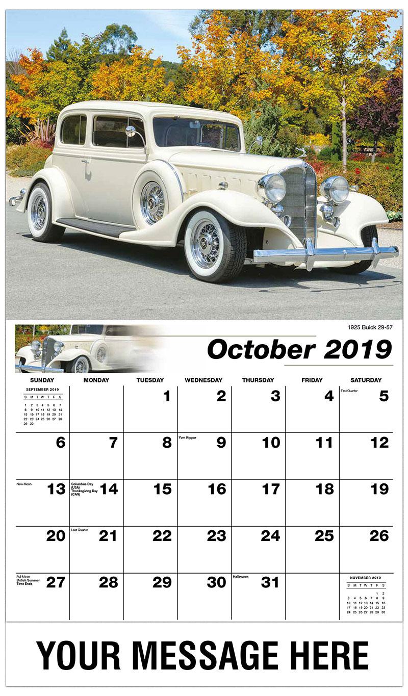 GM Classic Cars Calendar | 65¢ Promotional Calendar | Vintage Car ...