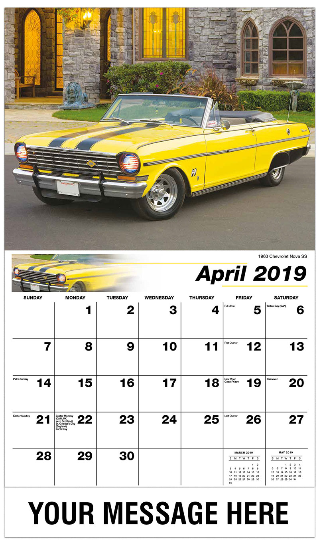 2019 Promo Calendar - 1963 Chevrolet Nova SS - April