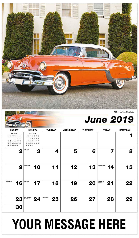 2019 Promo Calendar - 1961 Oldsmobile Dynamic 88 - June