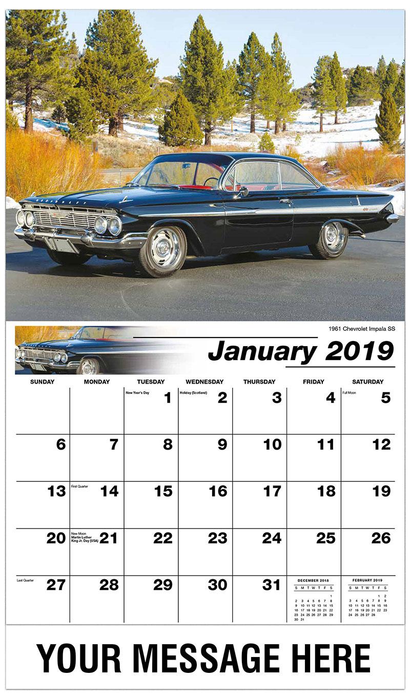 2019 Promotional Calendar - 1961 Chevrolet Impala SS - January