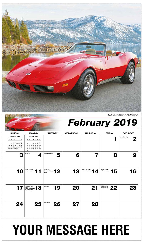 2019 Promotional Calendar - 1941 Pontiac Woody Wagon - February