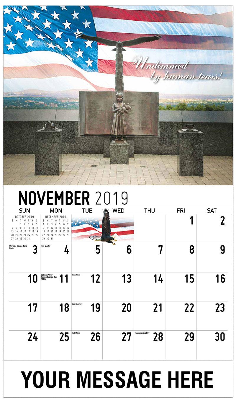 2019 Advertising Calendar - Undimmed By Human Tears - November