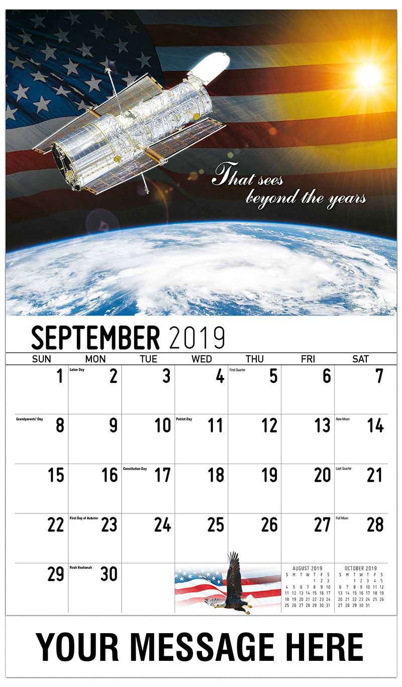 2019 Business Advertising Calendar - That Sees Beyond The Years - September