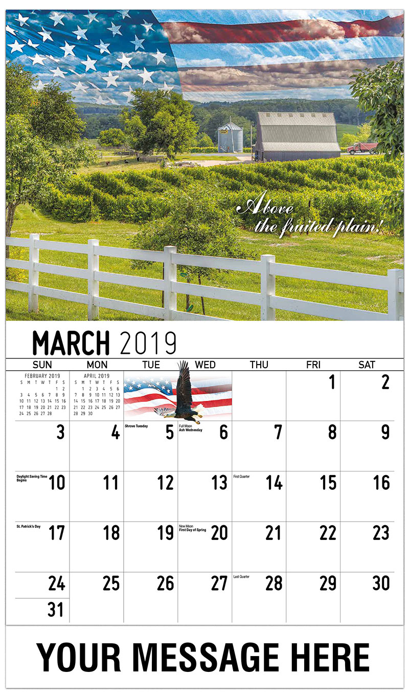 2019 Promo Calendar - Above The Fruited Plain - March