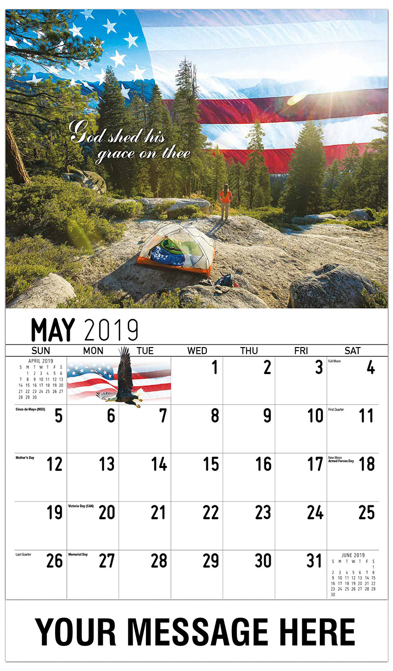 2019 Promo Calendar - God Shed His Grace On Thee - May