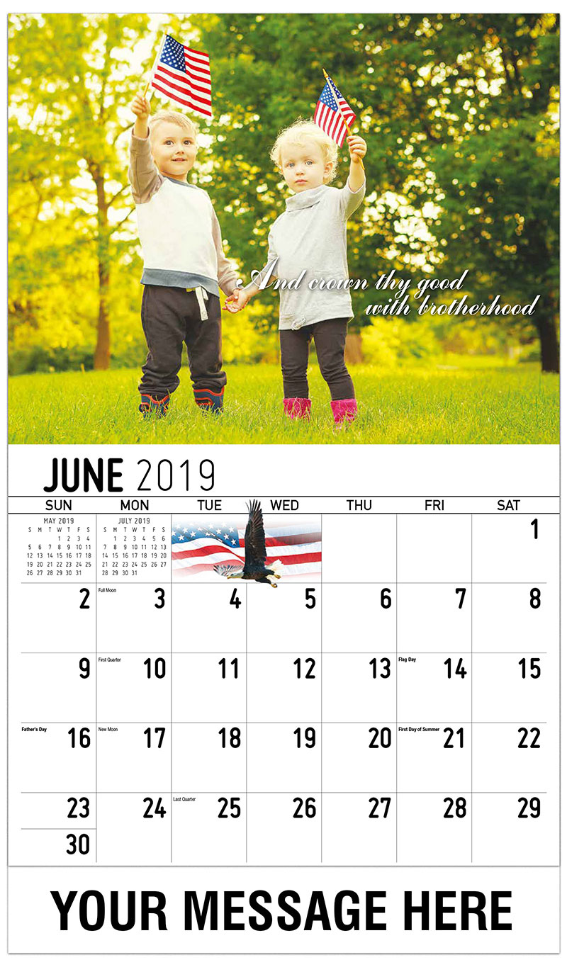 2019 Promo Calendar - And Crown Thy Good With Brotherhood - June