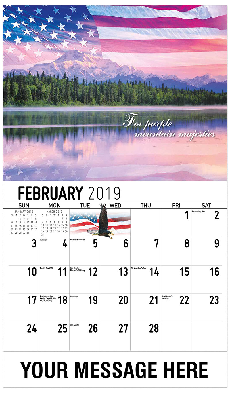 2019 Promotional Calendar - For Purple Mountain Majesties - February