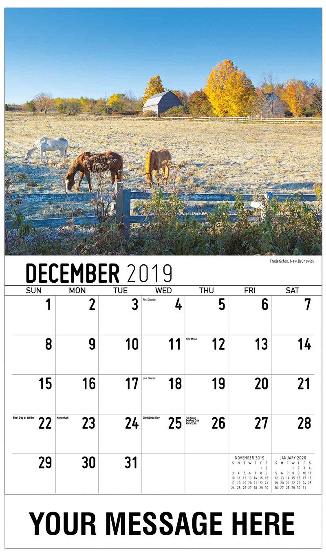 2019 Advertising Calendar - Fredericton, New Brunswick - December_2019