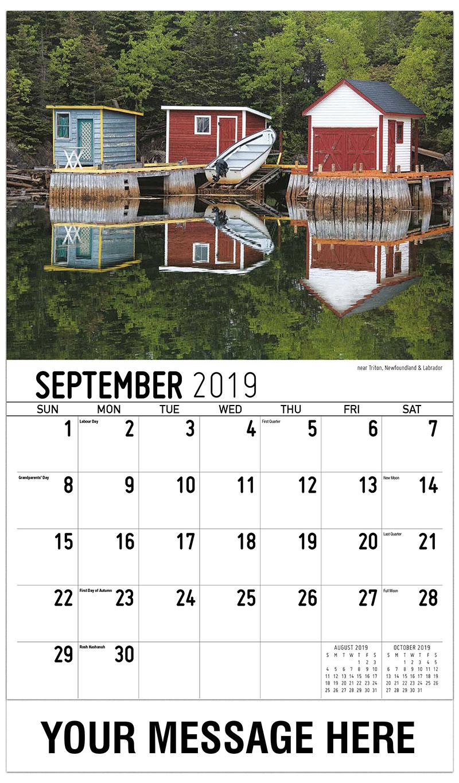 2019 Business Advertising Calendar - Trinity Bay, Newfoundland & Labrador - September