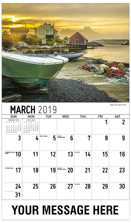 2019 Promo Calendar - Peggy'S Cove, Nova Scotia - March