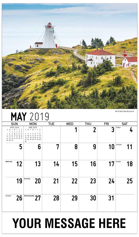 2019 Promo Calendar - North Head, New Brunswick - May