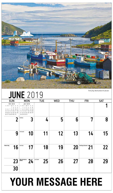 2019 Promo Calendar - Near Triton, Newfoundland & Labrador - June