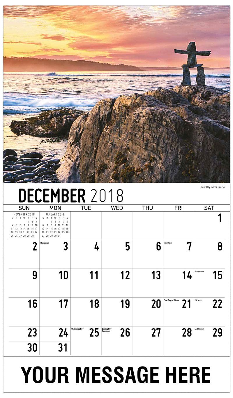2019 Promotional Calendar - Cow Bay, Nova Scotia - December_2018