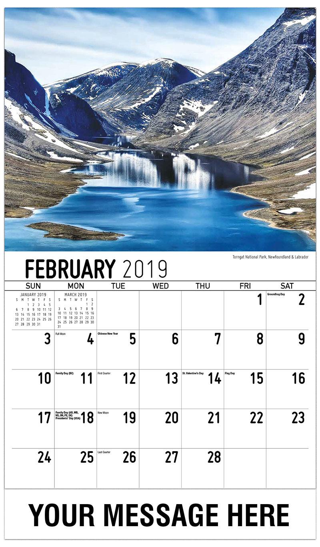 2019 Promotional Calendar - Torngat National Park, Newfoundland & Labrador - February