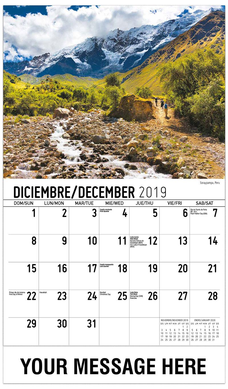 2019 Advertising Calendar - Soraypampa, Peru - December_2019