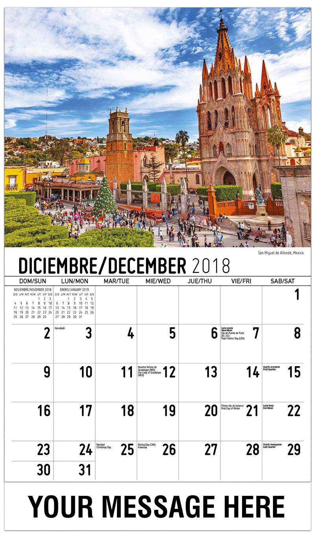 2019 Promo Calendar - San Miguel De Allende, México - December_2018