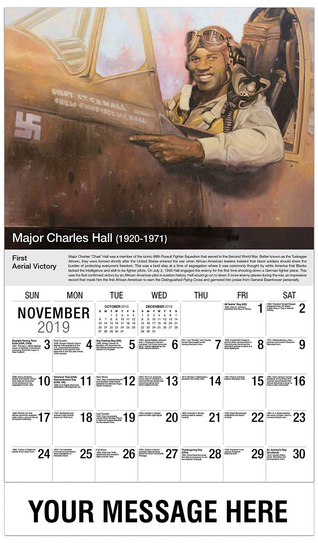 2019 Advertising Calendar - Charles (Chas) Hall - November