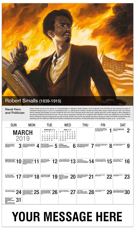 2019 Promo Calendar - Robert Smalls - March