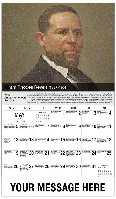 2019 Promo Calendar - Hira Rhodes Revels - May