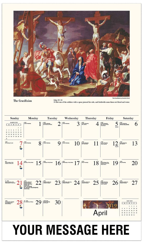 2019 Promo Calendar - The Crucifixion By Hendrick Krock - April
