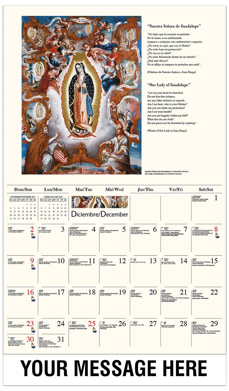 Calendar Inspirations : Catholic art promotional calendar bilingual spanish