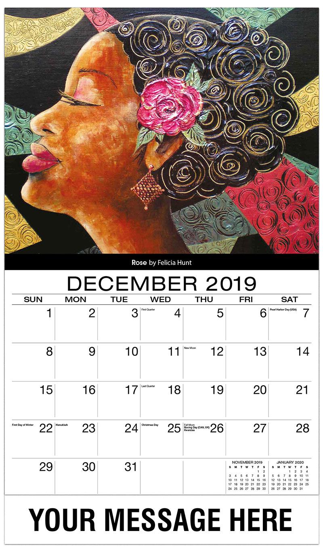 2019 Advertising Calendar - Rose By Felicia Hunt - December_2019