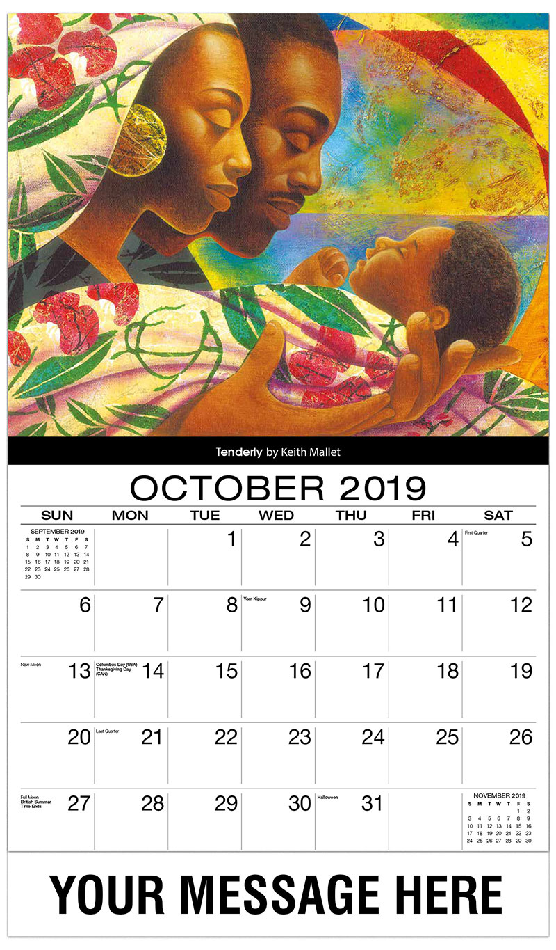 2019 Business Advertising Calendar - Tenderly By Keith Mallet - October