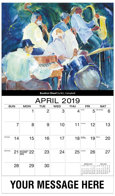 2019 Promo Calendar - Bourbon Street By M.L. Campbell - April