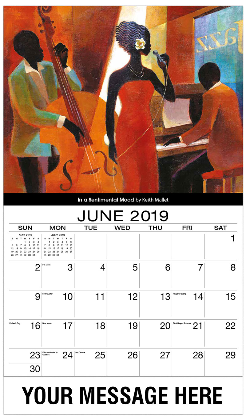 2019 Promo Calendar - In A Sentimental Mood By Keith Mallet - June