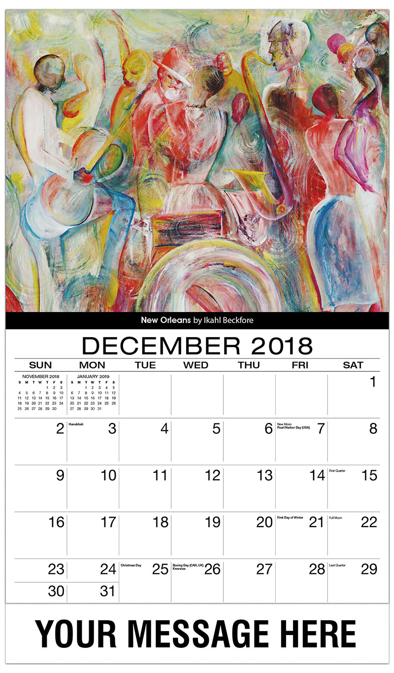black art promotional calendar