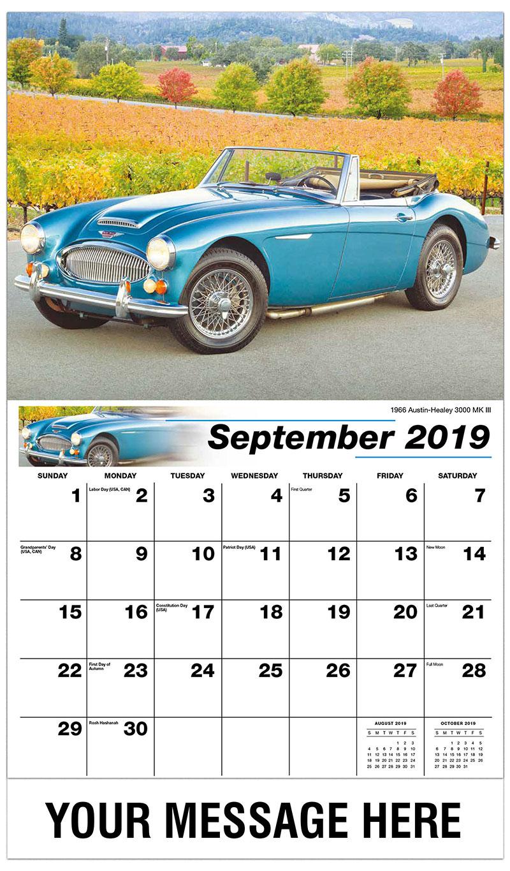 2019 Business Advertising Calendar - 1959 Plymouth Belvedere - September