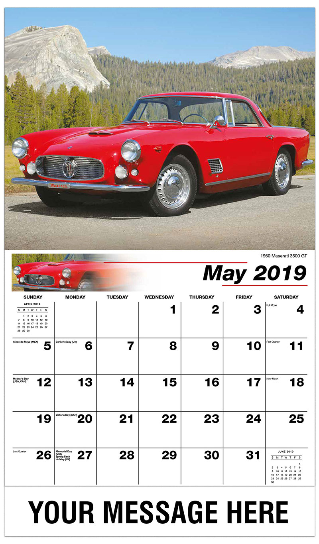2019 Promo Calendar - 1960 Maserati 3500 Gt - May