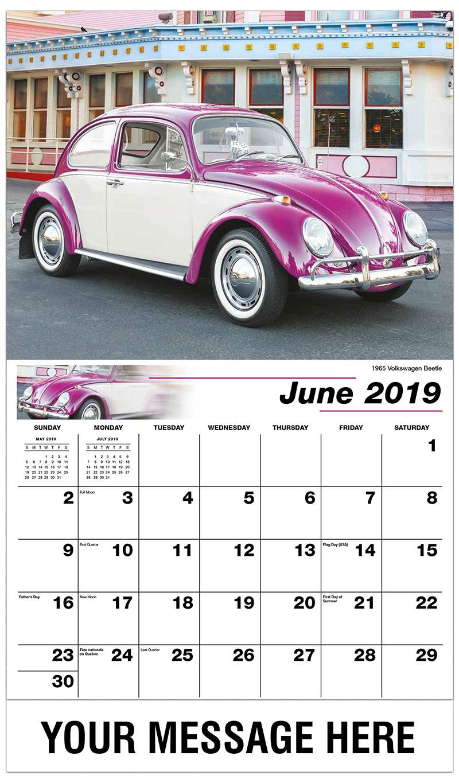 2019 Promo Calendar - 1965 Volkswagen Beetle - June