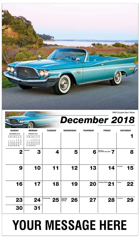 2019 Promotional Calendar - 1960 Chrysler New Yorker - December_2018